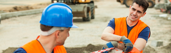 Hard work road construction workers Stock Photo 12