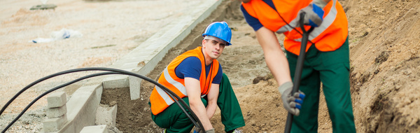 Hard work road construction workers Stock Photo 13