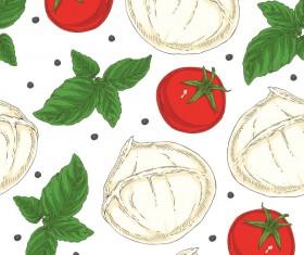 Italian vegetable seamless pattern vectors 03