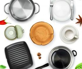 Kitchenware vector set 02
