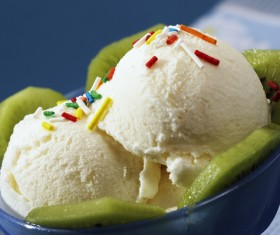 Kiwi ice cream Stock Photo