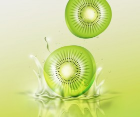 Kiwi splash background vector