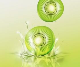 Kiwi splash background vector