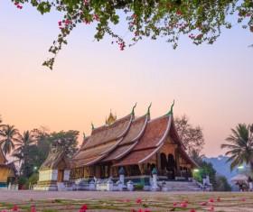 Laos Temple Stock Photo 02