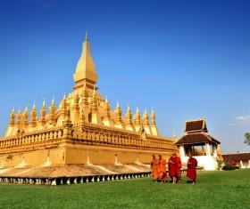 Laos Temple Stock Photo 03