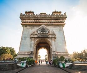 Laos Vientiane Patuxay Stock Photo 02