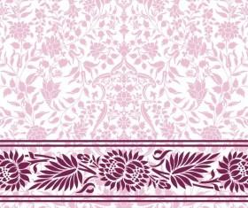 Light color decor pattern vector design 02