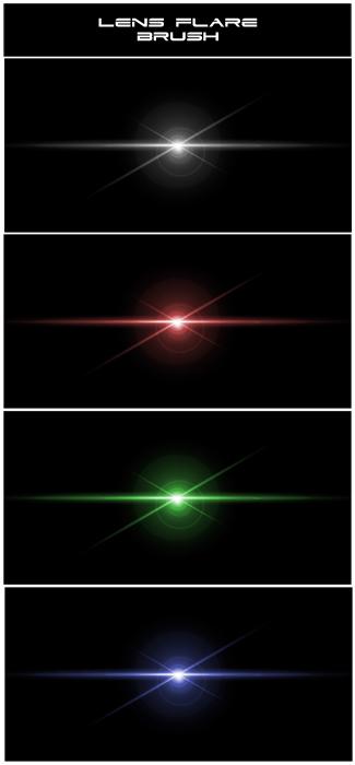 Light glow Photoshop Brushes