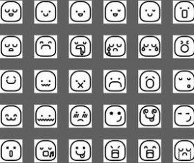 Line Smileys Icons