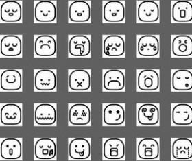 Line Smileys Icons