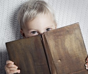 Little boy and book Stock Photo