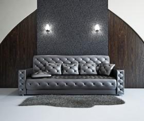 Living Room Black Fashion Sofa Stock Photo 02