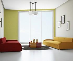 Living room fashion color sofa Stock Photo 03