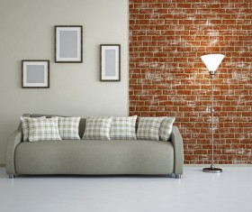 Living room fashion color sofa Stock Photo 04