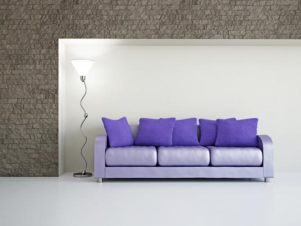Living room purple fashion sofa Stock Photo 02