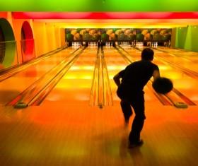 Man playing bowling Stock Photo 01
