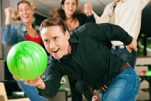 Man playing bowling Stock Photo 02