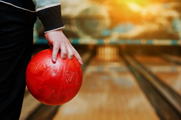 Man playing bowling Stock Photo 03