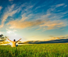 Man who wants Hugs sky Stock Photo 09