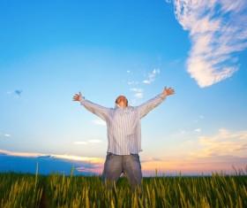 Man who wants Hugs sky Stock Photo 10