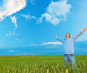 Man who wants Hugs sky Stock Photo 11