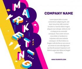 Marketing business words illustration vector