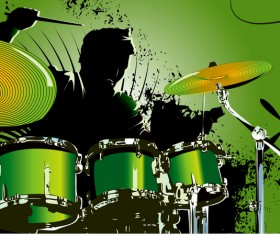 Modern drums design vectors 01