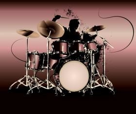 Modern drums design vectors 02
