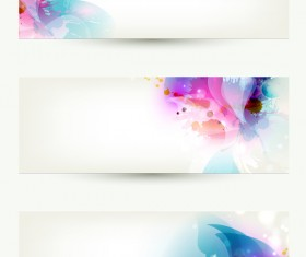 Modern elegant banners template vector
