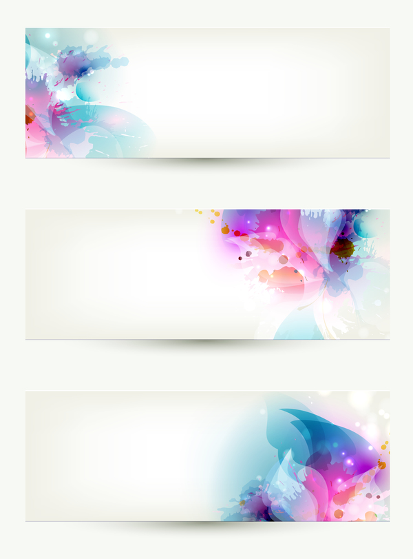Modern elegant banners template vector