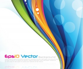 Modern wave colored background design vector 01