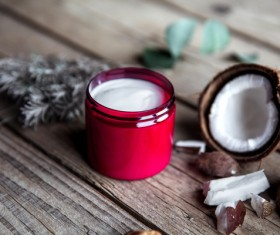 Moisturizers and creams on the desktop Stock Photo