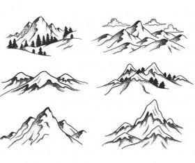 Mountain view vector