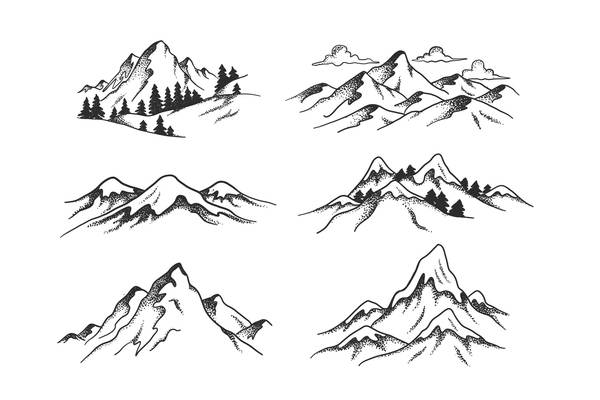 Mountain view vector