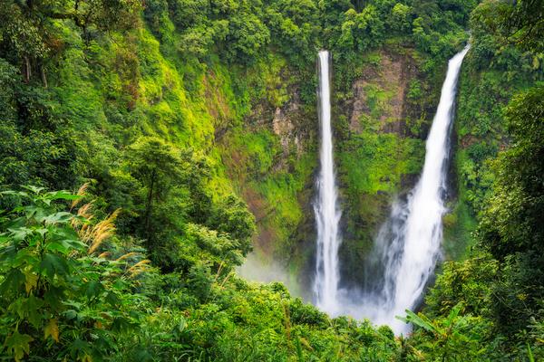 Mountain waterfall scenery Stock Photo 04
