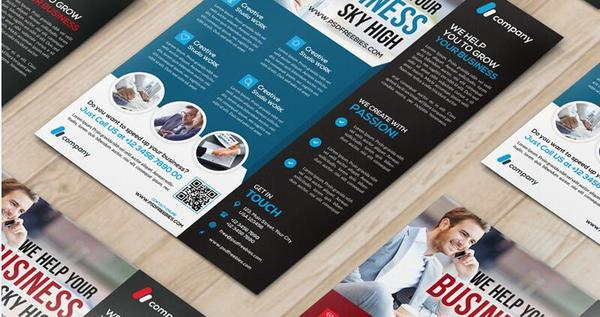 Multipurpose Company Flyer With Magazine PSD Template
