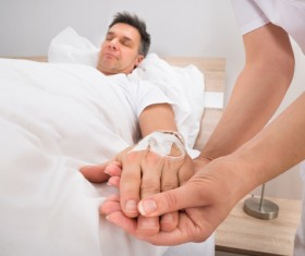 Nurse infusion for patient Stock Photo 02