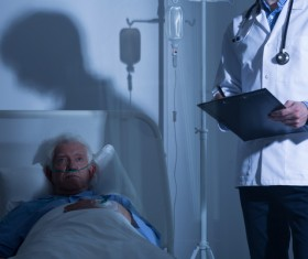 Nurse infusion for patient Stock Photo 03