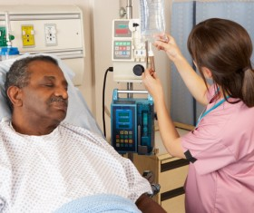 Nurses taking care of patients Stock Photo