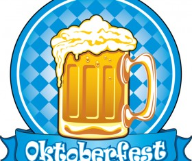 Oktoberfest label design vector