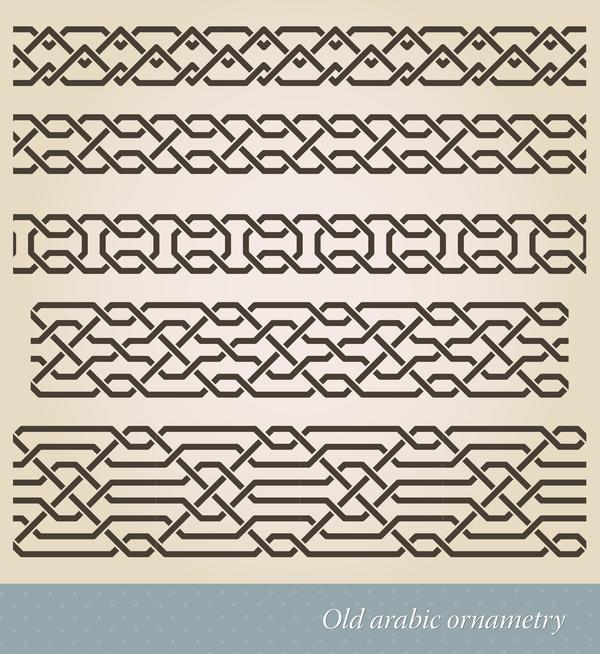 Old borders ornament vectors 02