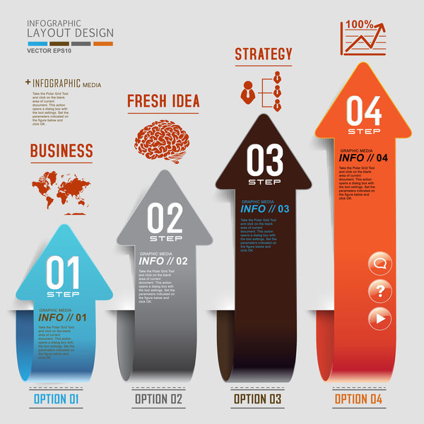 Option arrow infographic vector