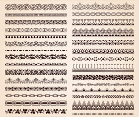 Ornament borders pattern vector 01