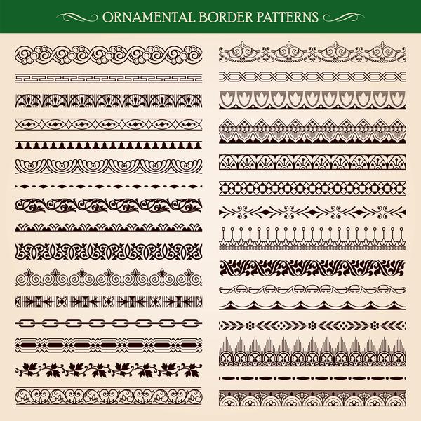 Ornament borders pattern vector 01