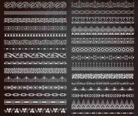 Ornament borders pattern vector 02