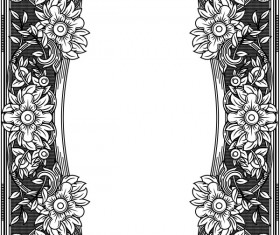 Ornamental frames retro styles vectors 01