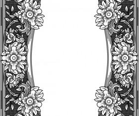 Ornamental frames retro styles vectors 01
