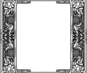 Ornamental frames retro styles vectors 02