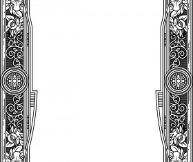 Ornamental frames retro styles vectors 03