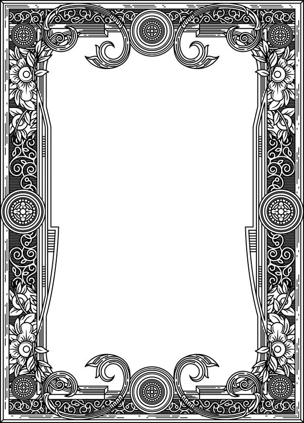 ornamental frames retro styles vectors 03 free download